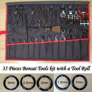 Brand-New-35-Pieces-Bonsai-Tools-Kit-with-a-Tool-Roll