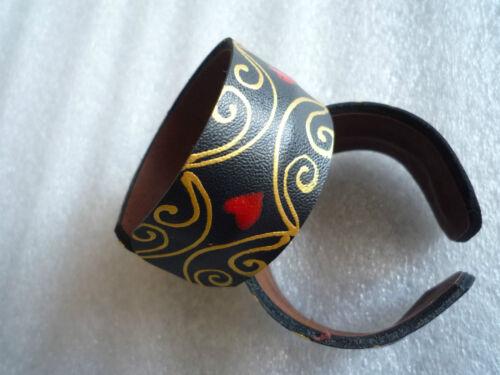 Biegbare largeur Armspange Bracelet Bracelet Jonc Ouvert Variable cuir synthétique en similicuir