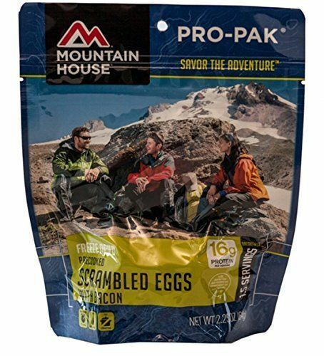 6 - Mountain House Freeze Dried Food Pouch - Scrambled Eggs with Bacon Pro Pak