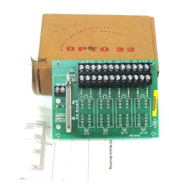 iAC5Q INPUT MODULES 4 OPTO 22 PB16HQ I//O MODULE RACK with