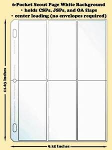 Best-Hobby-Pages-6-Pocket-Scout-White-Polypropylene-Archival-Page-Pack-of-25