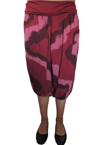 Kurze Haremshose Größe 44 46 48 50 52 54 Übergröße Pumphose Sommerhose Batik 3