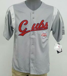 2349e75b True Fan MLB Genuine Merch Chicago Cubs Grey Men's Jersey Shirt NWT ...