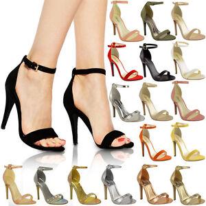 WOMENS-LADIES-STRAPPY-STILETTO-HIGH-HEEL-SANDALS-ANKLE-STRAP-CUFF-PEEP-TOE-SHOE