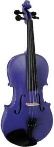 Blue-Moon-VG-102-Violeta-Colorido-Violin-3-4-Talla-Violin-con-Estuche-y-Arco