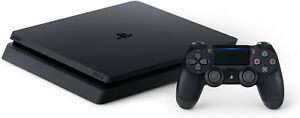 Sony-PlayStation-4-PS4-Slim-1tb-Jet-Black-Console-w-accessories-SHIPS-FAST