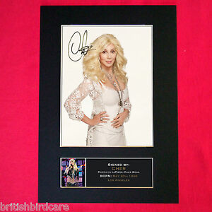 CHER-Mounted-Signed-Photo-Reproduction-Autograph-Print-A4-224