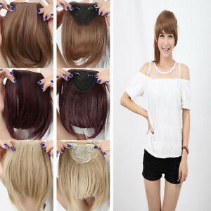 real long fringe bangs clip in hair extensions natural
