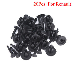 20Pcs-Bumper-Fastener-Rivets-Trim-Clips-Push-Type-or-Renault-Clio-Megane-Esp-CHU