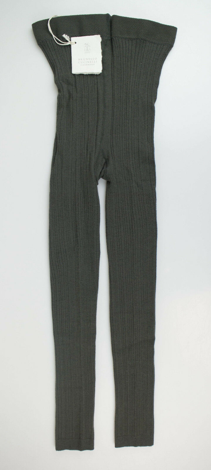New BRUNELLO CUCINELLI Hunter Green Cashmere Blend Footless Tights Tights Tights Size XL  675 dd5056