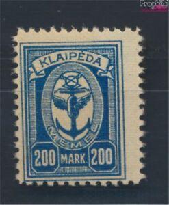 Memelgebiet-155-postfrisch-1923-Hafen-Memel-8731710