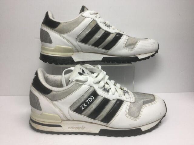 hará fuego pájaro  adidas ZX 700 Mens G62110 White Aluminium Leather Running Shoes ...