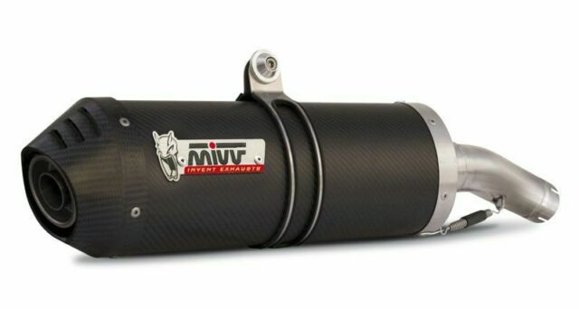 H.020.LEC - Silencer Exhaust Mivv Oval Carbon Cap Honda CB 600 Hornet 03/06