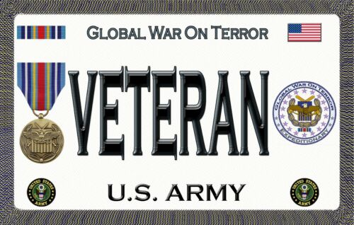 Global War on Terror U.S.Army Magnetic Car Sign Purple Heart 6inX3.75in