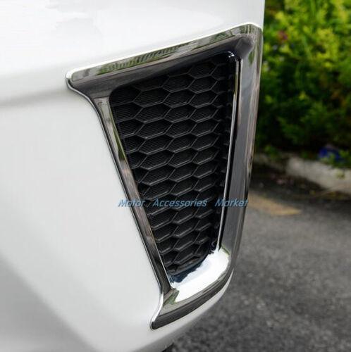 Chrome Rear Bumper Fog Light Trim For Honda Jazz Fit Hatchback 2014 2015 16 2017