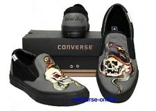 KID Boys Girls CONVERSE All Star SAILOR JERRY SKULL SLIP ON Trainers Shoes UK 11