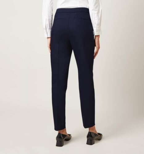 W3.1 Ex Branded Navy Summer Gael Cotton Blend Tailored Trouser Size 10-16