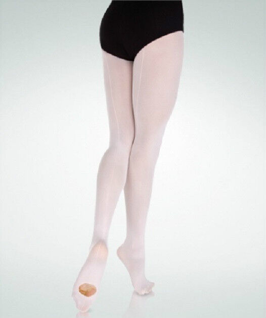 Danskin 725 Women/'s Size C Ballet Pink Faux Backseam Convertible Tights
