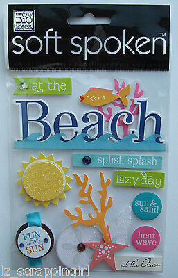 ~AT THE BEACH~ Soft Spoken Dimensional Stickers; OCEAN Florida California Hawaii