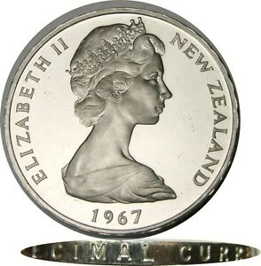 Image Is Loading Elf New Zealand 1 Dollar 1967 Currency Conversion