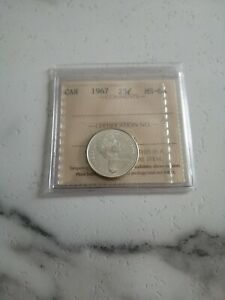 Canada-1967-25-Cents-Graded-by-ICCS-MS-64