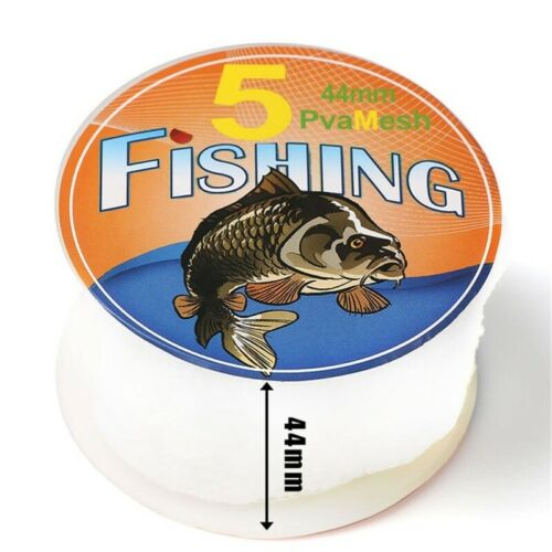 5M PVA Mesh Fishing Baits Bag Water Soluble Fishing Tackle Tool Dia 25//37//44mm