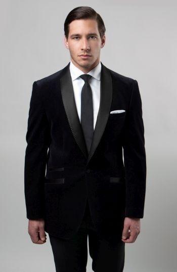 Luxury Velvet Tuxedo Blazer Shawl satin  1 Button Single Solid Jacket  Slim Fit
