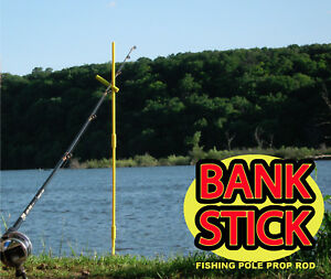 Telescopic Fishing Bank Stick Banksticks Adjustable Rod Pod Stand Ground Pin