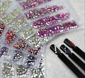 Partition-size-1200pcs-Nail-Art-Rhinestones-Crystals-Strass-For-Nails-Decoration
