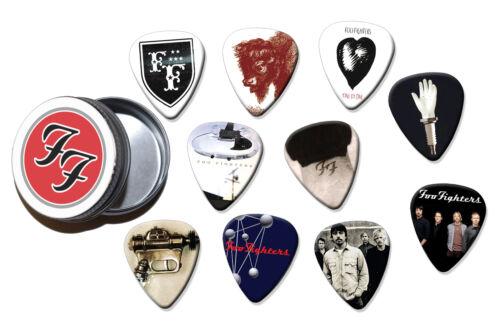 A5 BT Foo Fighters  10 X Guitar Picks In Tin
