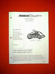 Details about MANCO MINI BIKE MODEL # 584B-0 PARTS MANUAL 12/19/03