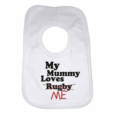 My Mummy Drives a Volkswagen New Personalised Cotton Baby Bib for Boys /& Girls