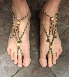 e280b9a48b85 Barefoot Sandals   Ankle Bracelets Men s Paracord Hand Made SIZE L ...