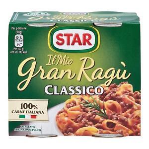 Sauces Star Mon Gran Ragu 'Classique 2 Pots De 180 Gr Sauce Tomate Viande