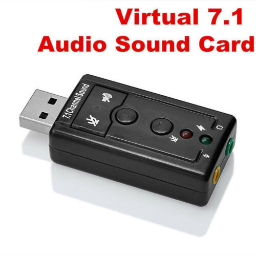 Mini USB 2.0 3D Virtual 12Mbps External 7.1 Channel Audio Sound Card Adapter AHS