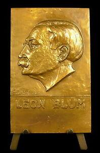 Medaille-a-Leon-Blum-Le-front-populaire-87mm-figure-du-socialisme-francais-medal