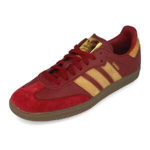 Details about Adidas Originals Samba OG FT Burgundy/Gold Mens Trainers UK  10.5 **BRAND NEW**