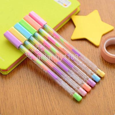3PCS/Pack Rainbow Colorful Korean Watercolor Gel Pens Set School Stationery CA