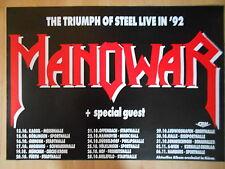 MANOWAR 1992 TOUR -  orig.Concert Poster  --  Konzert Plakat  NEU  A1