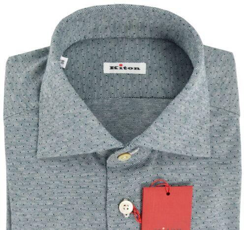 Nieuw shirt 100katoen 15 2018 Kiton 18ktw51 Eu Ons 39 5 maat Fc3JuTK1l
