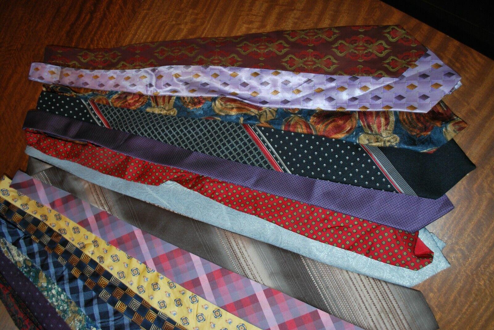 15 x various coloured patterned Tie's job lot bulk buy 14 vintage