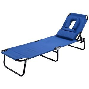 Image Is Loading Foldable Lounge Chair Outdoor Beach Patio Chaise Bed