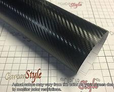 3D Black Carbon Fibre Wrap Vinyl Sticker 0.3m(11.8in)x0.75m(29.5in) AirFree