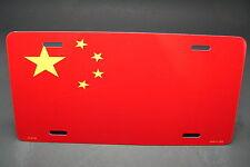 CHINA FLAG METAL ALUMINUM CAR LICENSE PLATE TAG