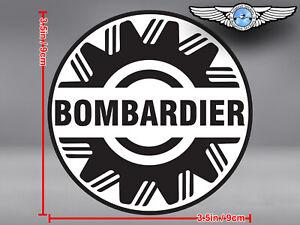 BOMBARDIER ROUND LOGO DECAL / STICKER