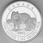 Canada 2014 $5 Arctic Fox 1 oz. 99.99% Pure Silver Proof Numismatic Coin