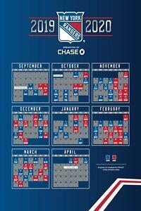 NHL New York Rangers Schedule 2019 Poster | eBay