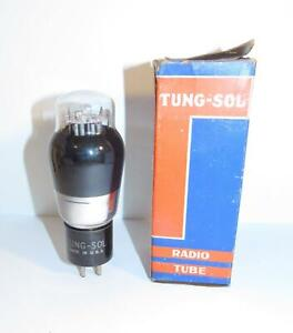 NIB Tung-Sol 6A3 black glass amplifier tube (6 volt 2A3).  TV-7 tests strong.