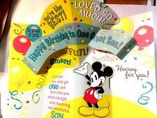 Item 1 SON Pop Out BIRTHDAY Card Disney Mickey Mouse Theme Youre The BEST HALLMARK