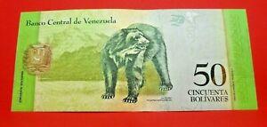 50 bolivares 2015 - FDC - Billet collection Venezuela - N19050